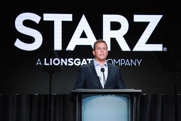 BEVERLY HILLS, CALIFORNIA - JULY 26: Starz COO Jeffrey Hirsch speaks onstage during the Starz segment of the Summer 2019 Television Critics Association Press Tour at The Beverly Hilton Hotel on July 26, 2019 in Beverly Hills, California. (Photo by Rich Fury/Getty Images)
