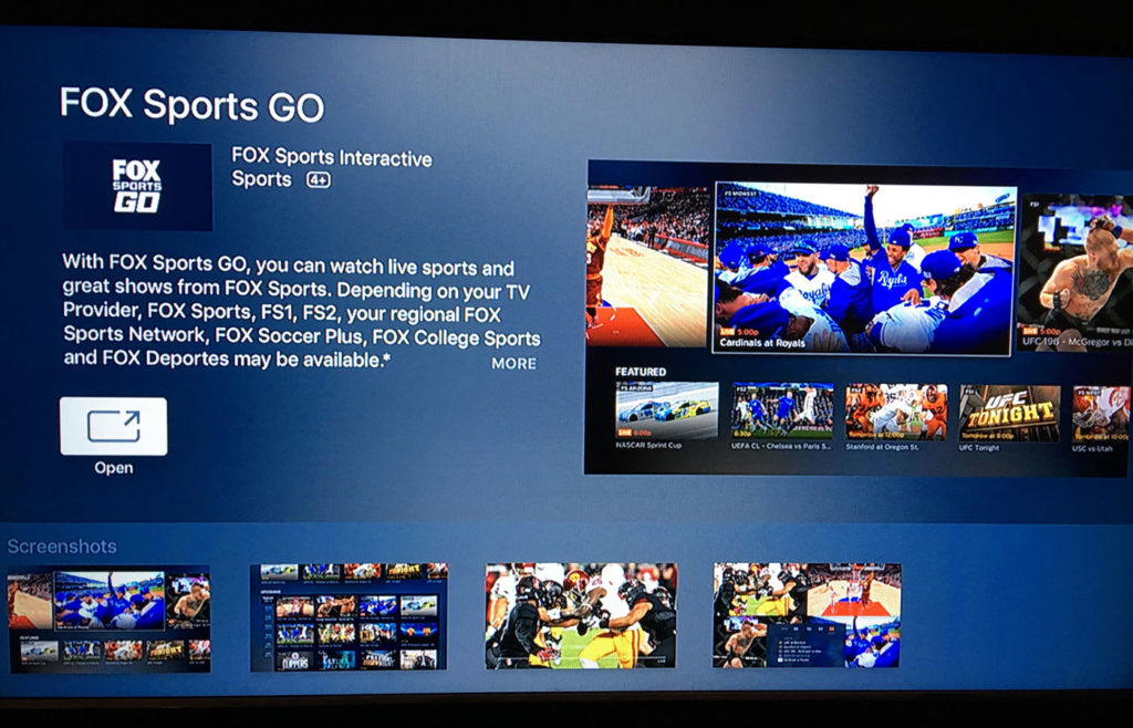 How To Get Fox Sports Go On Apple TV 1